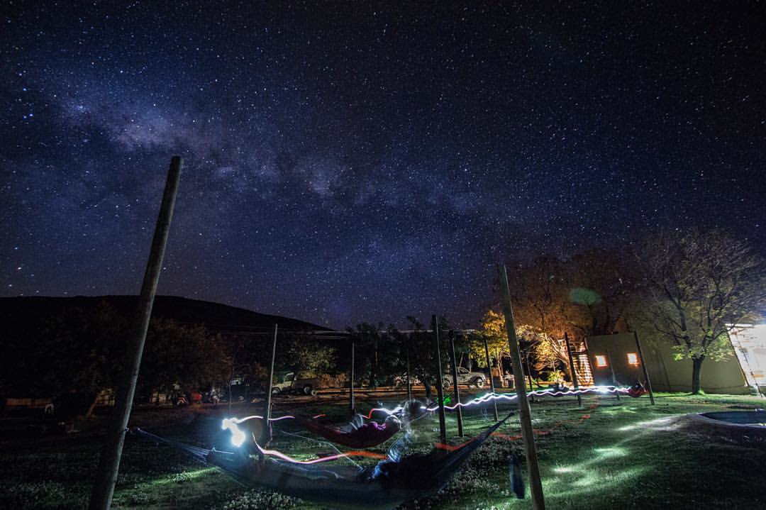Stargazing in the hammocks - Cederberg Oasis. Photo by: Lorin Anderberg.
