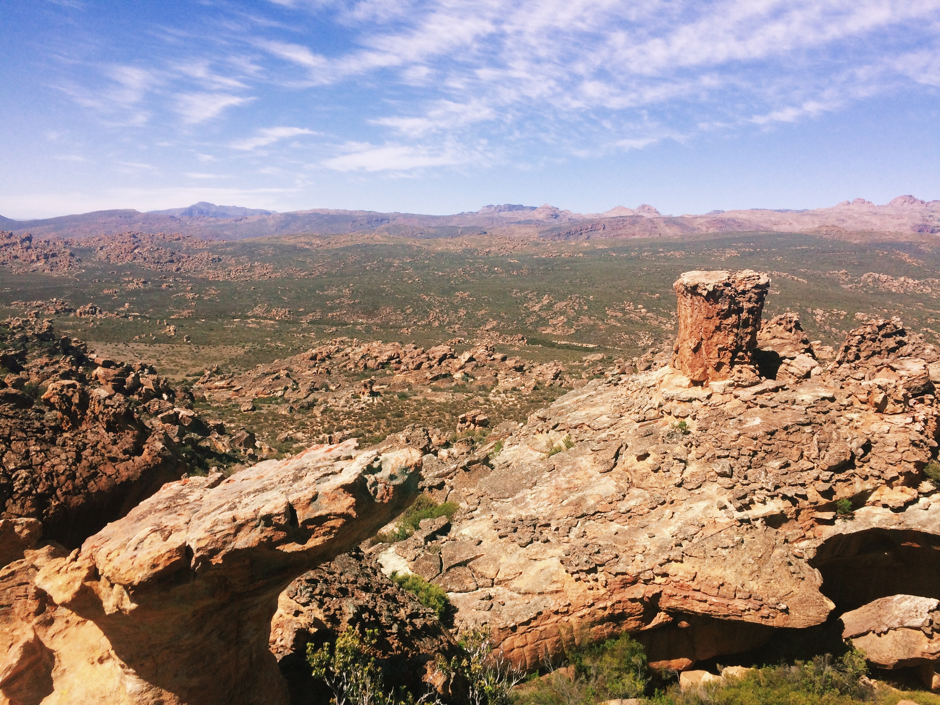 The red and rocky Cederberg landscape